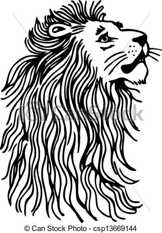 327x470 Simple Lion Head Clipart
