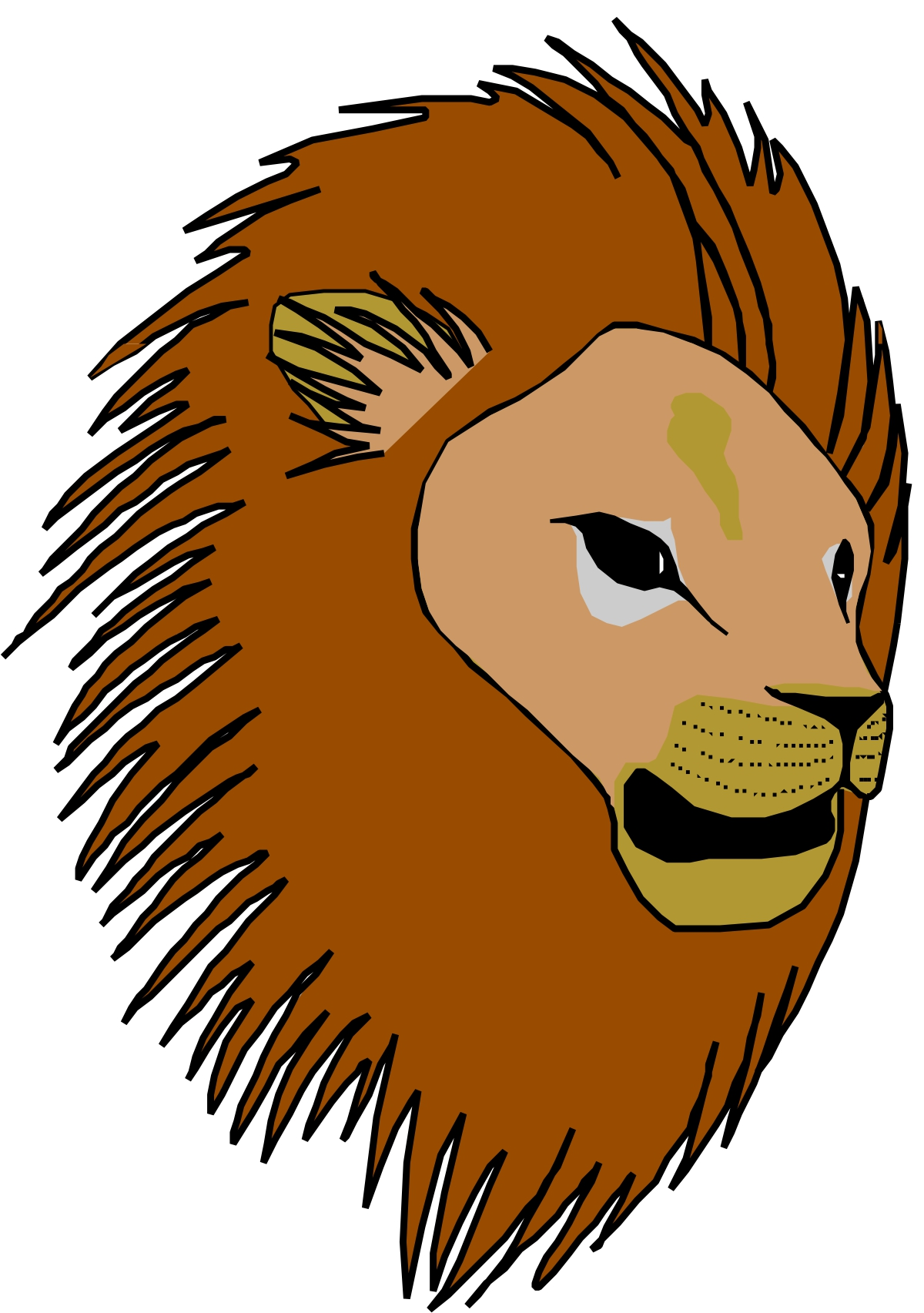 1200x1705 Cartoon Lion Head