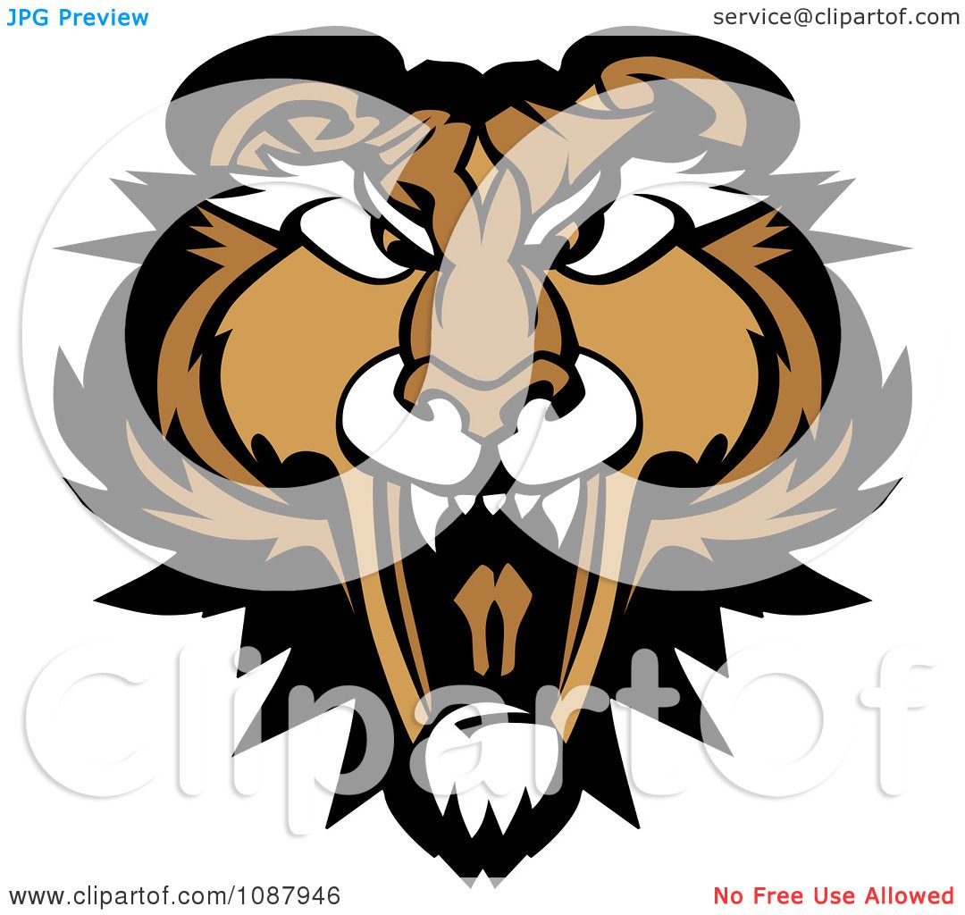 1080x1024 Clipart Roaring Puma Mountain Lion Head Mascot