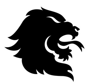 300x279 Illustration Of A Single Lion Head Royalty Free Stock Image