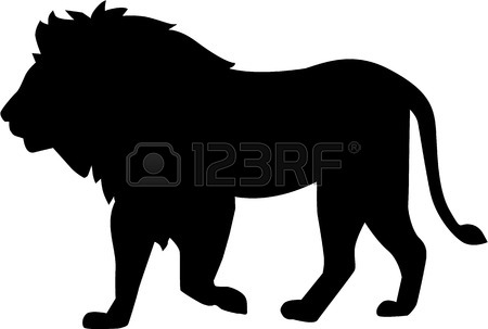 450x303 2,671 Lion Head Silhouette Cliparts, Stock Vector And Royalty Free