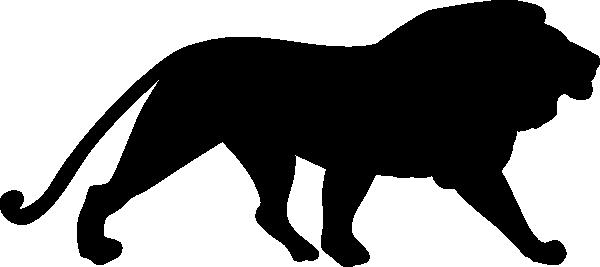 600x267 Lion Silhouette 2 Clip Art