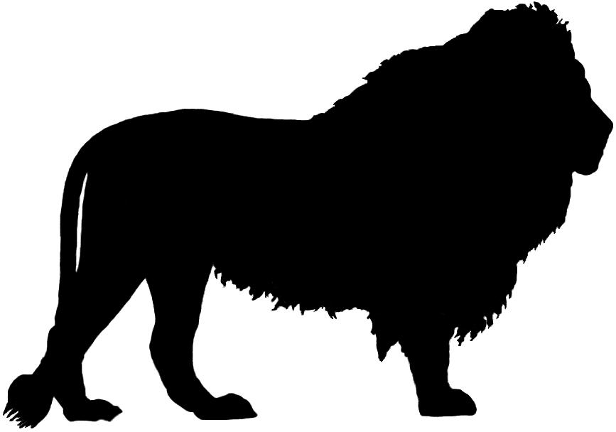 867x608 Lion Clipart Silhouette