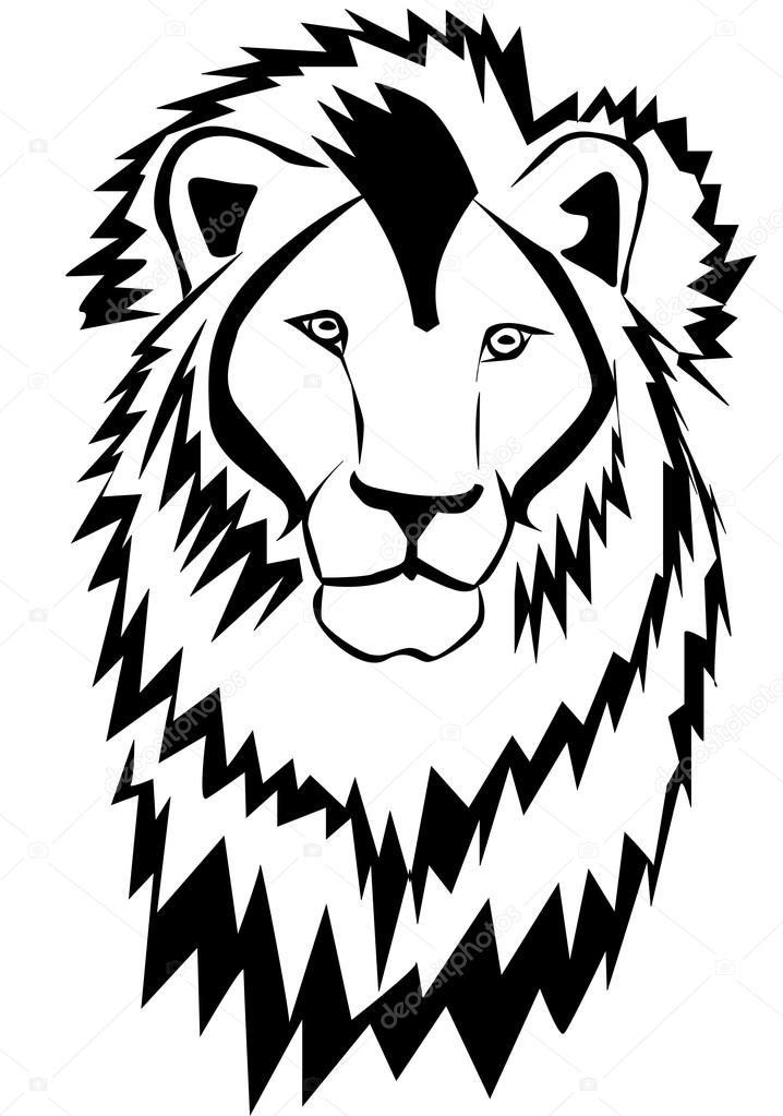 718x1023 Lion Head Silhouette Stock Vector Barca3979