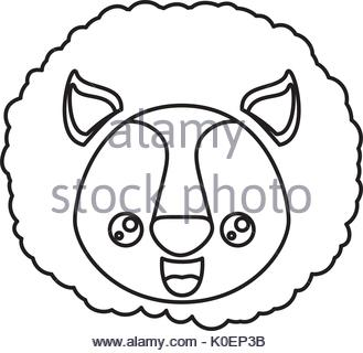 329x320 Lion Head With Happy Face Illustration Stock Vector Art