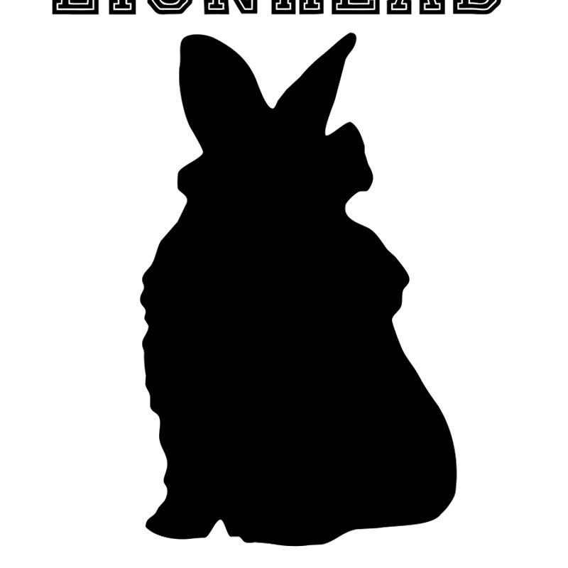 800x800 Lionhead Rabbit Silhouette Spiral Notebooks By Fennic Redbubble