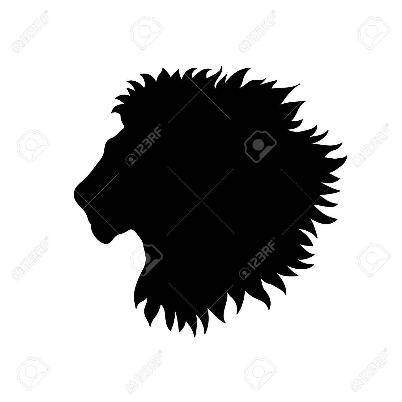 1300x1300 Photo Collection Lion Head Silhouette