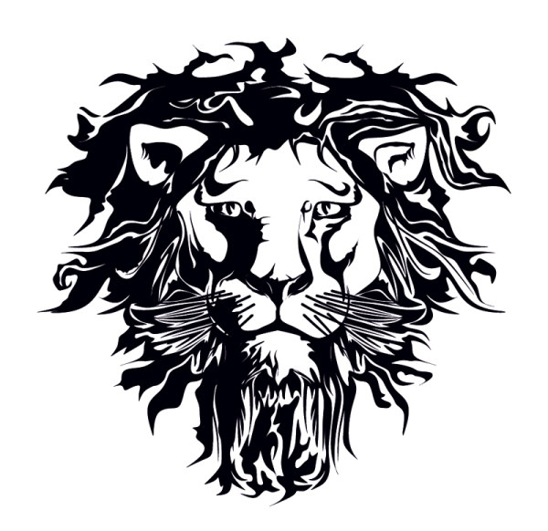 600x582 A Lion Head Logo In Black Vector Sources