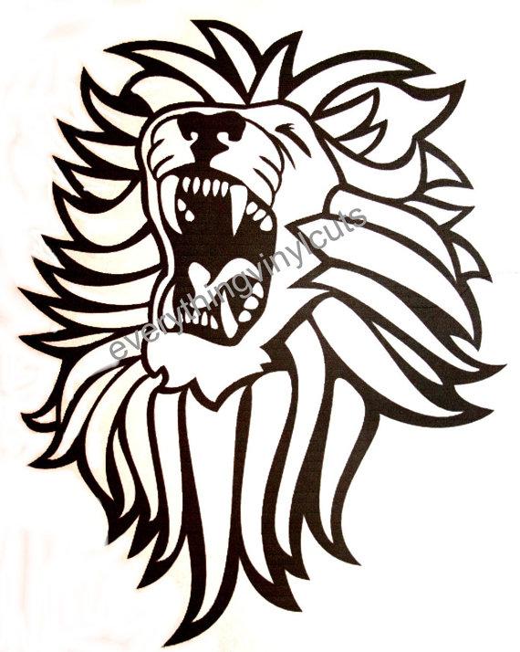570x714 Vinyl Wall Art Silhouette Lion Head 12x12 By Everythingvinylcuts