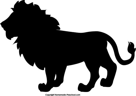 572x404 White Lion Clipart Silhouette