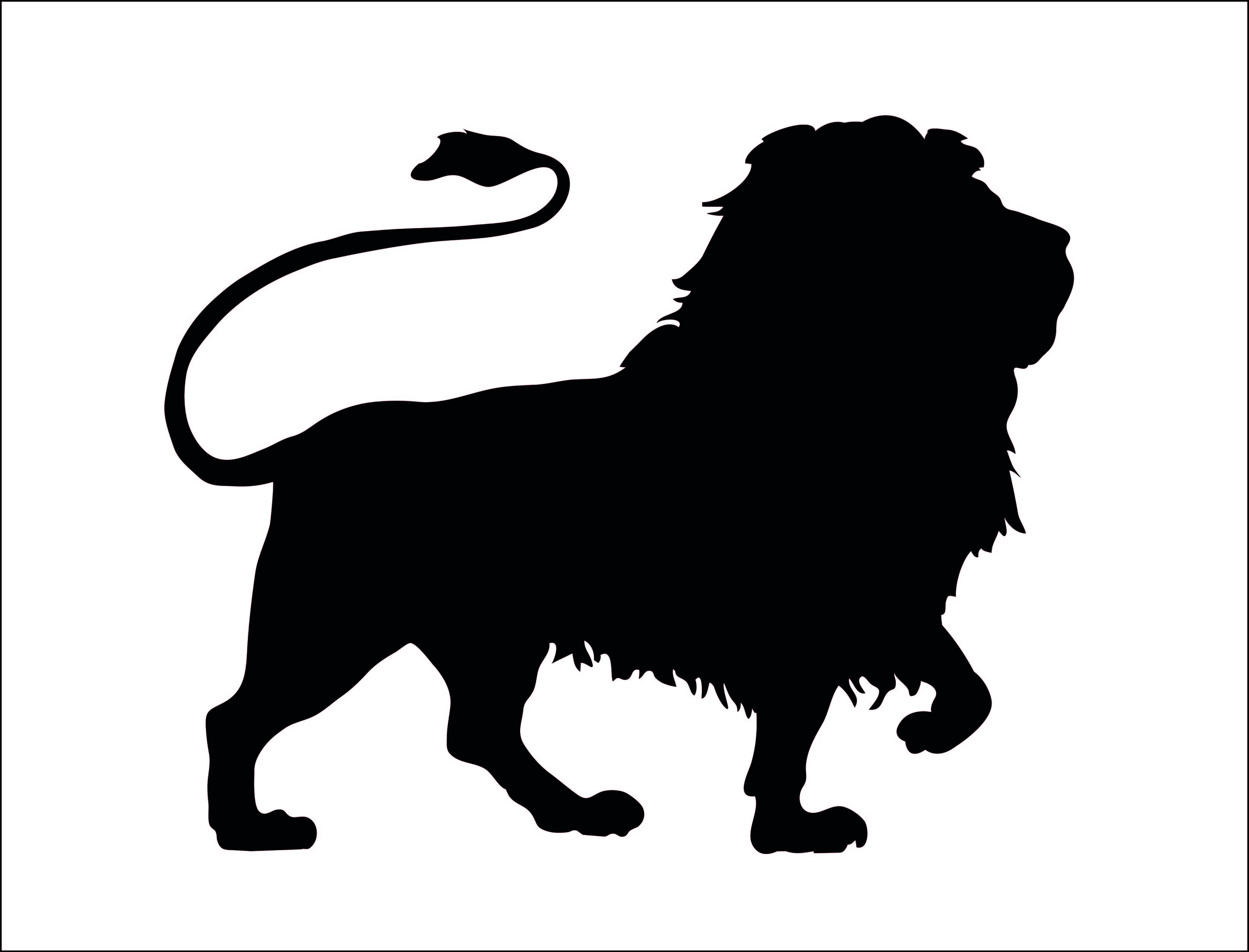 3285x2504 Clipart Free Lion Silhouette