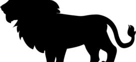 272x125 Lion Head Silhouette Free Vector Art
