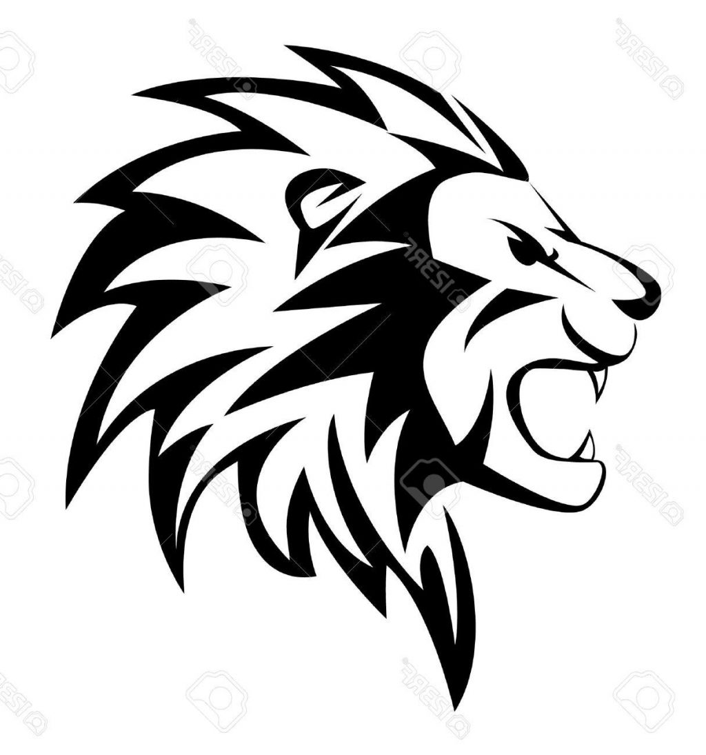 1024x1095 Best 15 Roaring Lion Silhouette Illustration Clipart Image