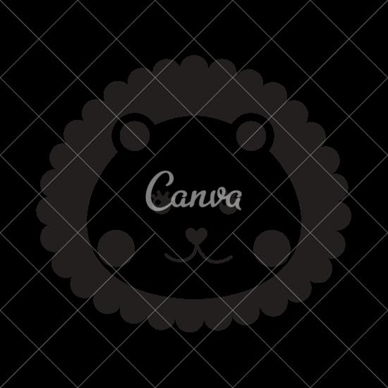 550x550 Cute Lion Face