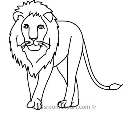 400x367 Lion Outline Clip Art, Free Lion Outline Clip Art
