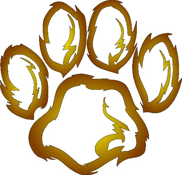 600x577 Lions Paw Print Clip Art