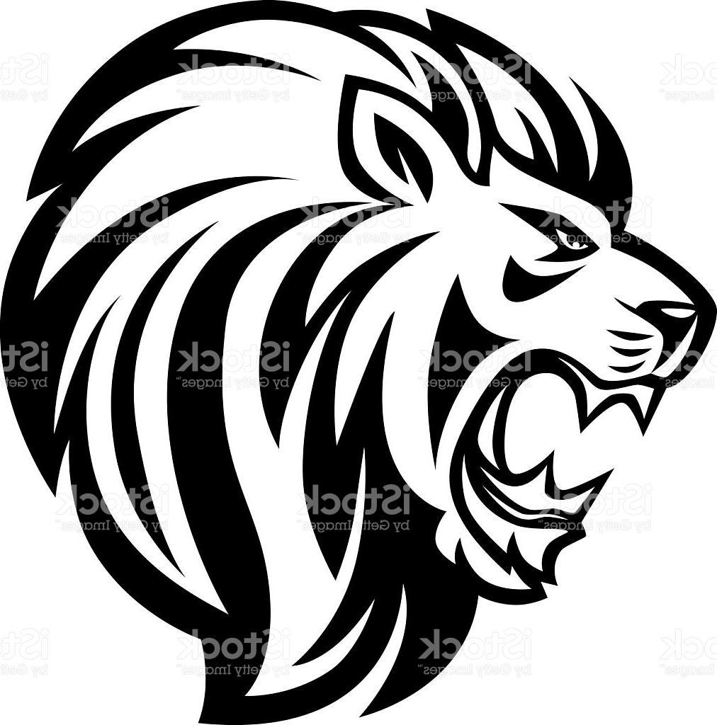 Clip Art Lion Line Drawing