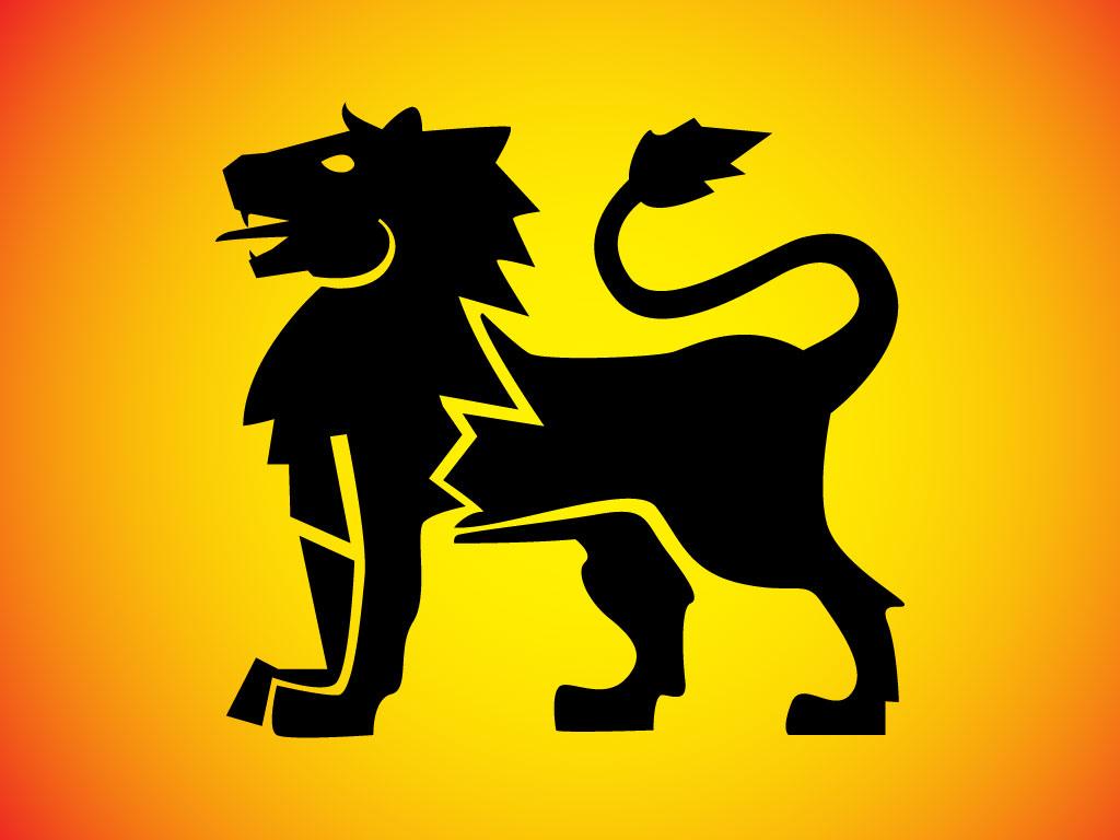 1024x768 Heraldic Lion Vector