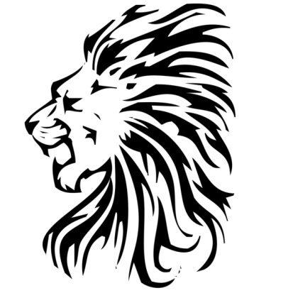 413x413 Lion Silhouette Tribal Lion Silhouette