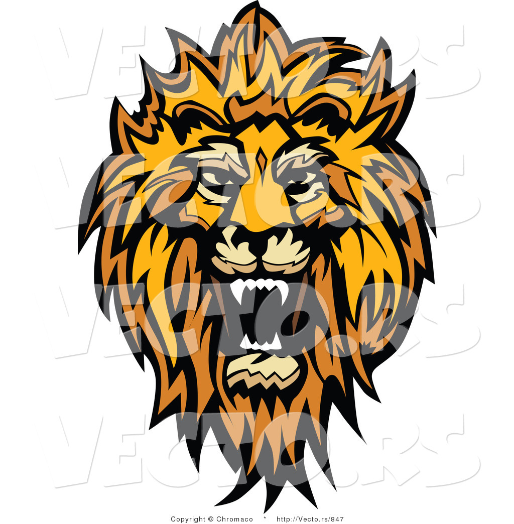 1024x1044 Vector Of A Roaring African Lion Design By Chromaco