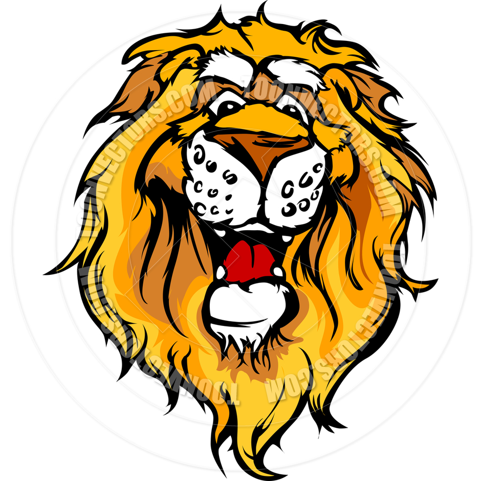 940x940 Smiling Cartoon Lion Mascot Vector Graphic By Chromaco Toon