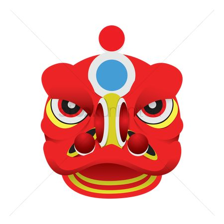 450x450 Free Chinese Lion Mask Stock Vectors Stockunlimited
