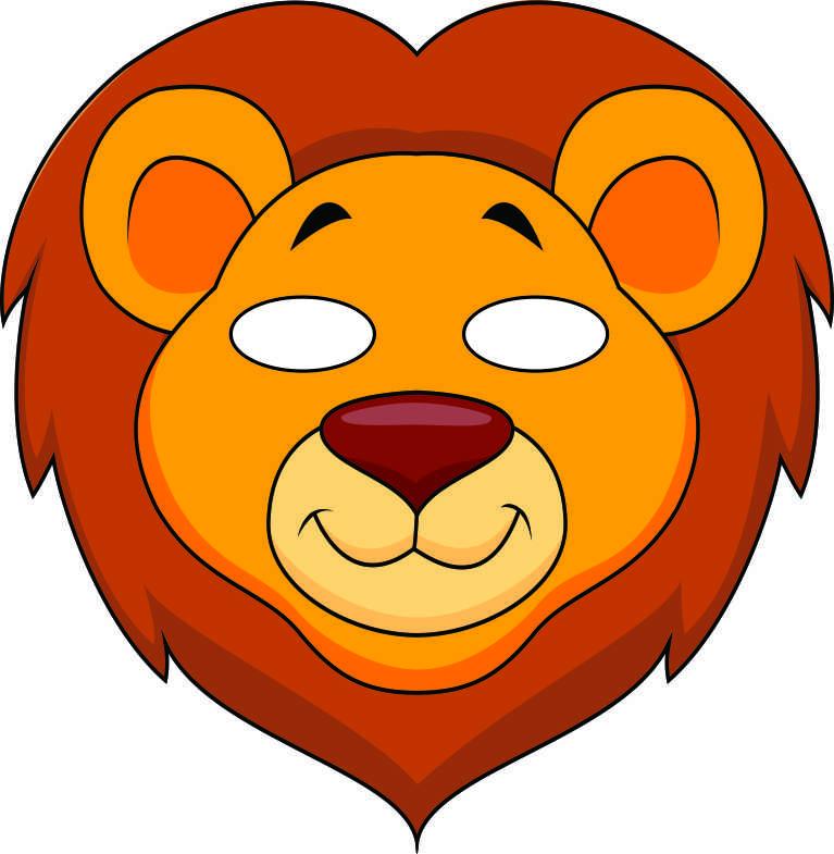 767x785 Lion Mask Clipart