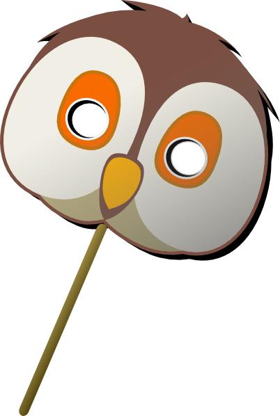 402x598 Owl Mask Clip Art