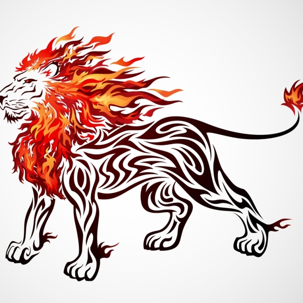 600x600 Flame Clipart Lion