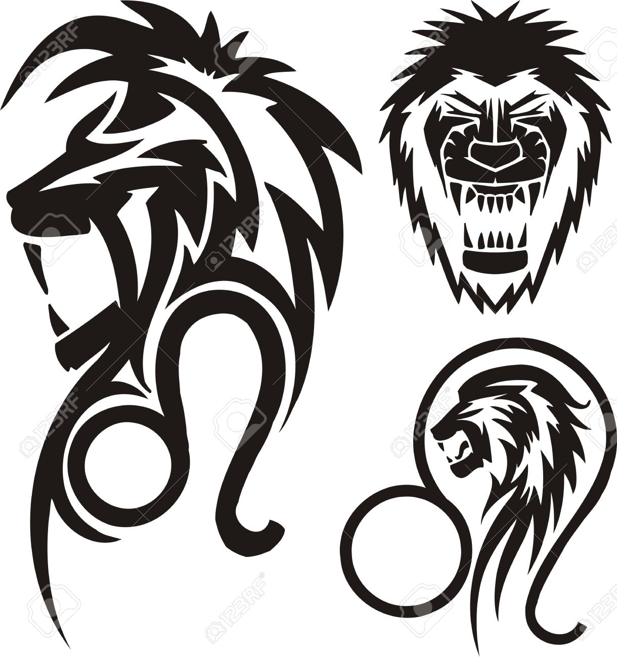 1220x1300 Tribal Clipart Lion