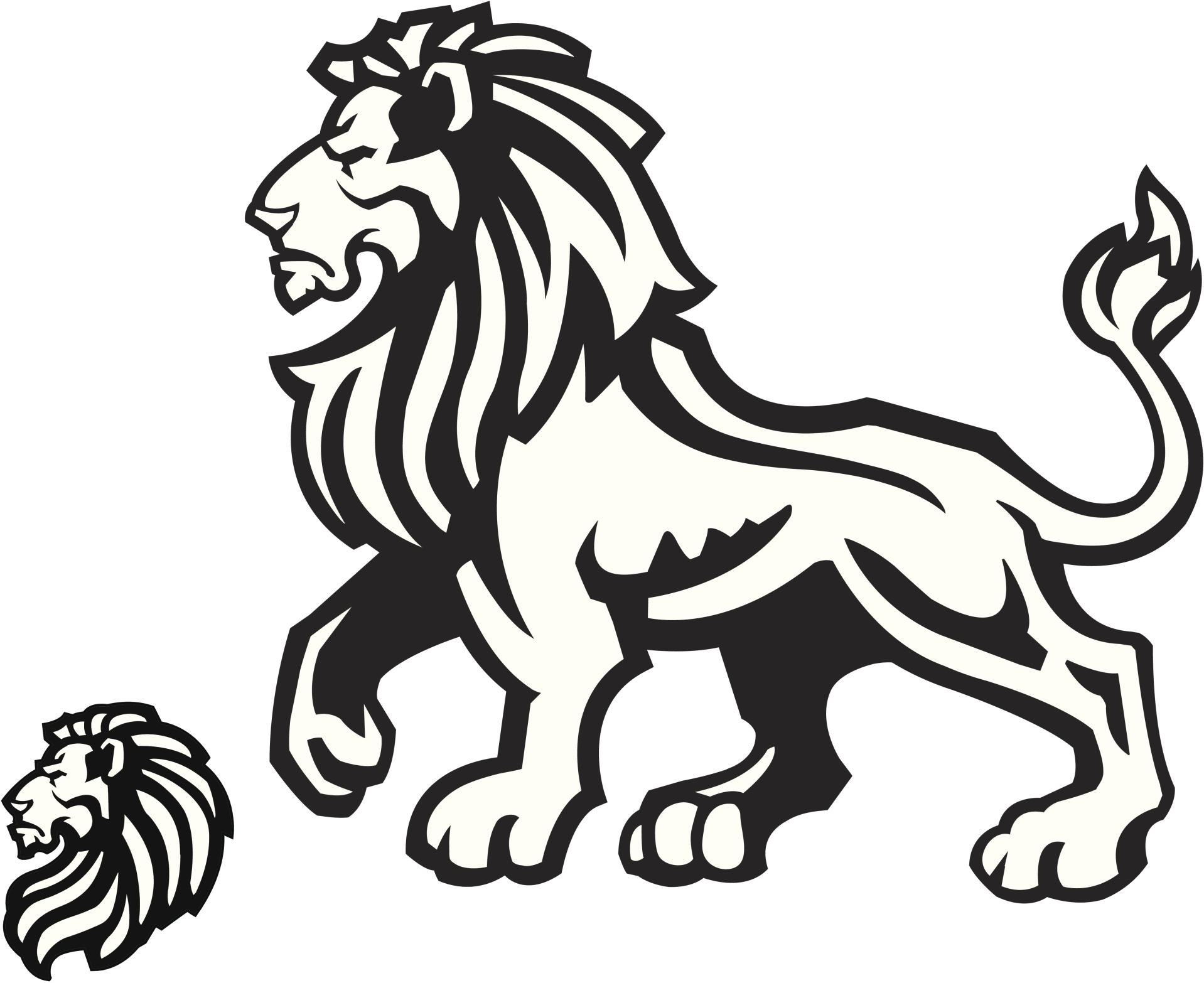 1918x1566 White Lion Clipart Judah