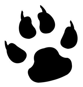 285x300 Lion Paw Clip Art