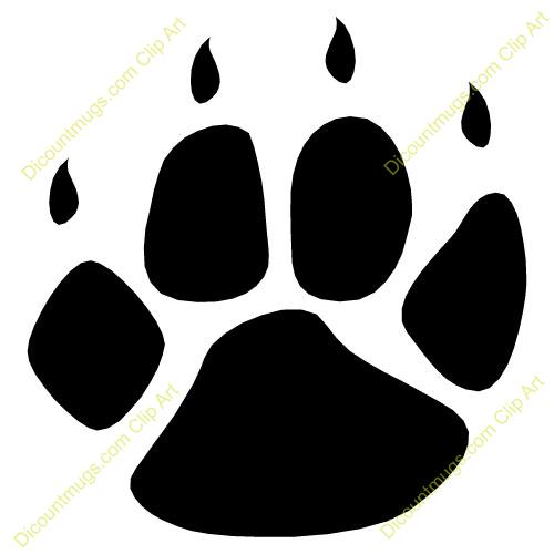 500x500 Lion Paw Clip Art