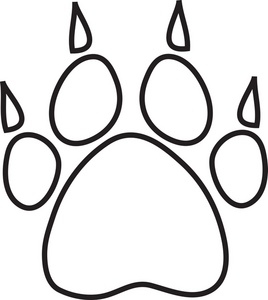 268x300 Paw Print Outline Clipart