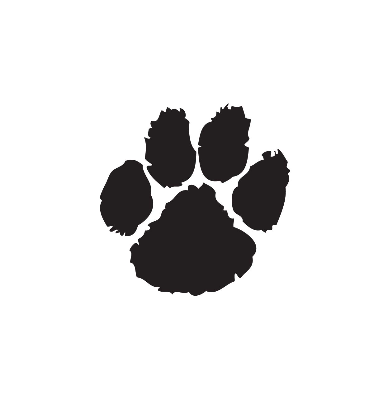 1246x1282 Paw Prints Paw Print Black And White Clipart