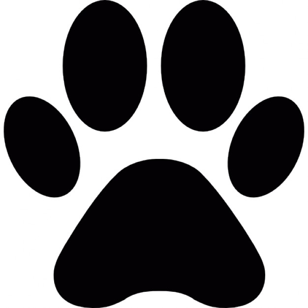 626x626 Free Vector Clipart Of Paw Prints