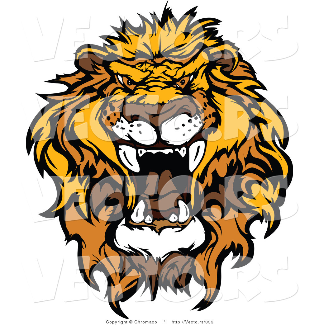 1024x1044 Vector Of An Intimidating African Lion Roaring By Chromaco