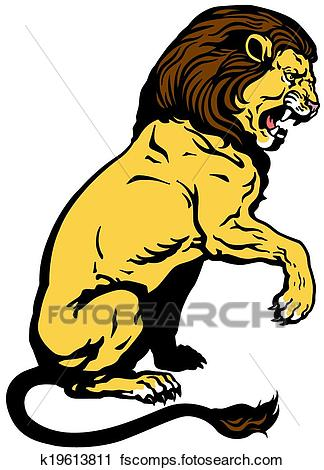 324x470 Clipart Of Sitting Lion K19613811
