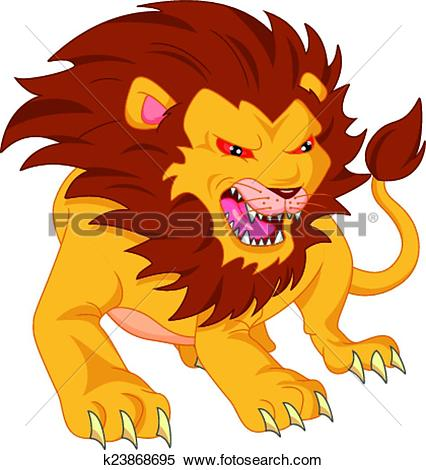 426x470 Graphic Clipart Lion Angry
