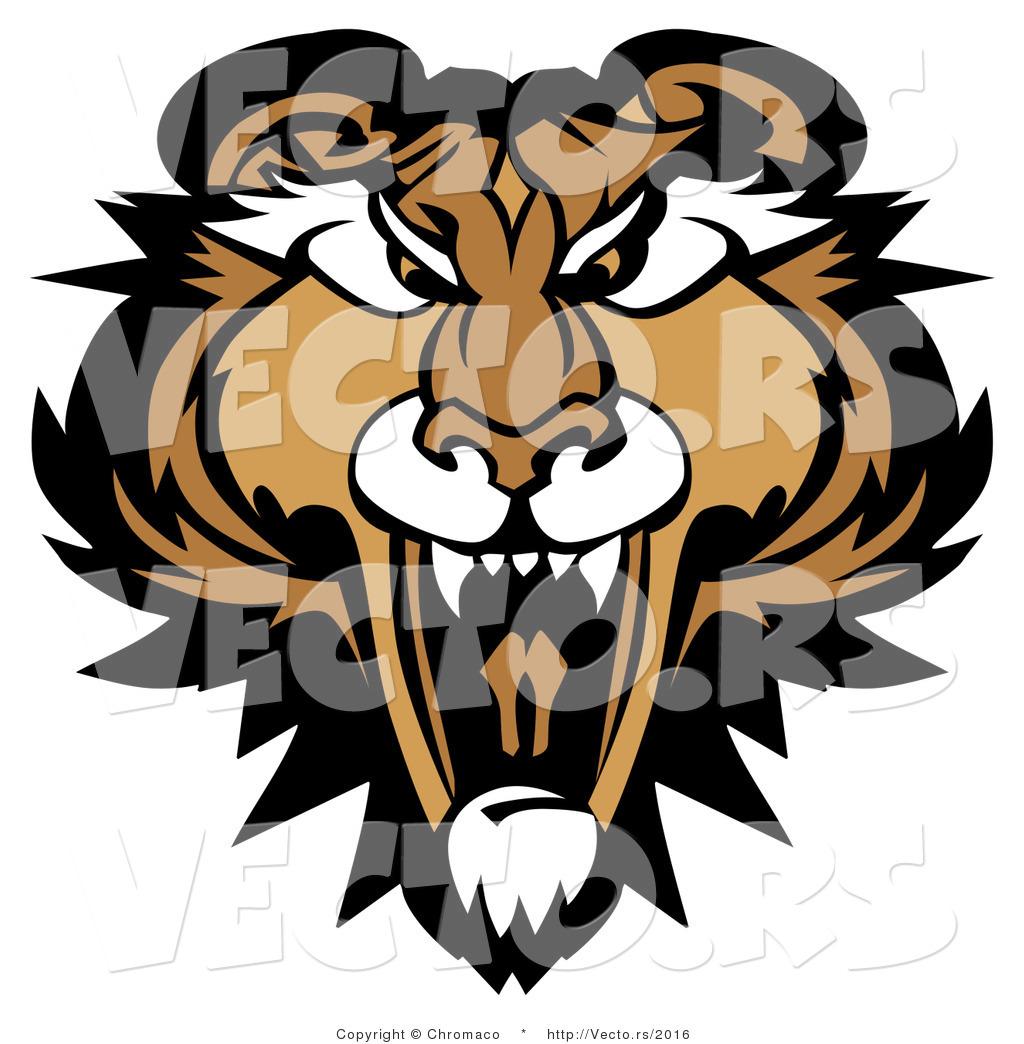 1024x1044 Cartoon Vector Of A Growling Adult Mountain Lion Mascot Preparing