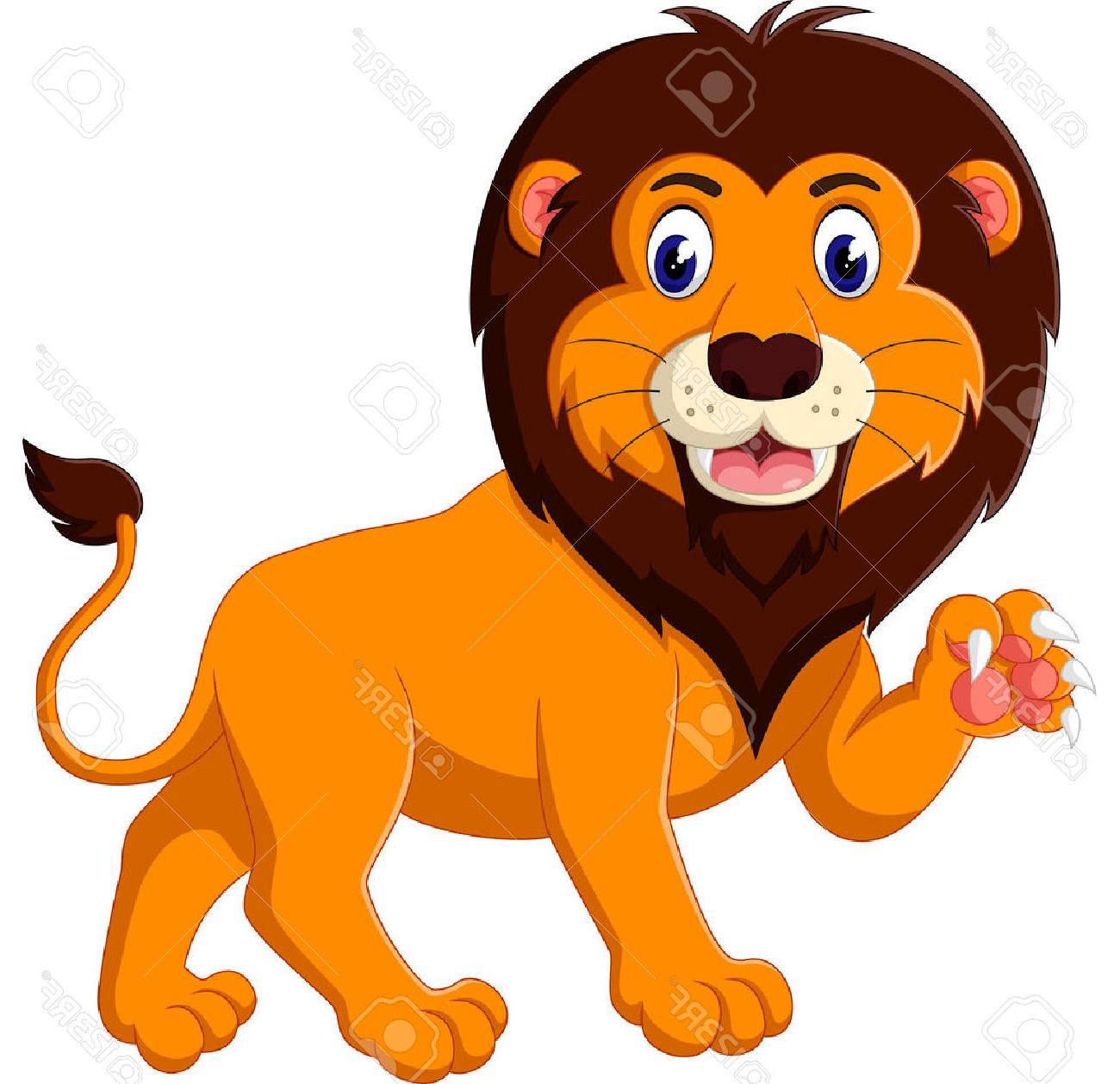 1300x1258 Best Cartoon Lion Roaring Stock Vector Design Images