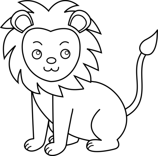 550x541 Lion Drawing Clipart