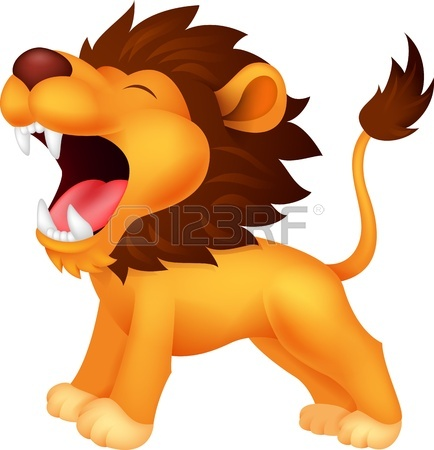 434x450 Lion Roaring Cartoon Royalty Free Cliparts, Vectors, And Stock