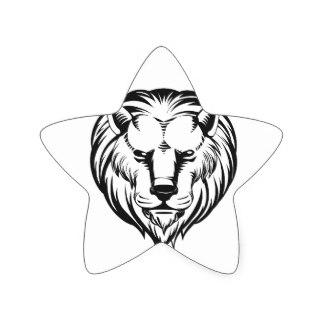324x324 Lion Sketch Stickers Zazzle