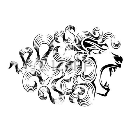450x450 Roaring Lion Tattoo Design Royalty Free Cliparts, Vectors,
