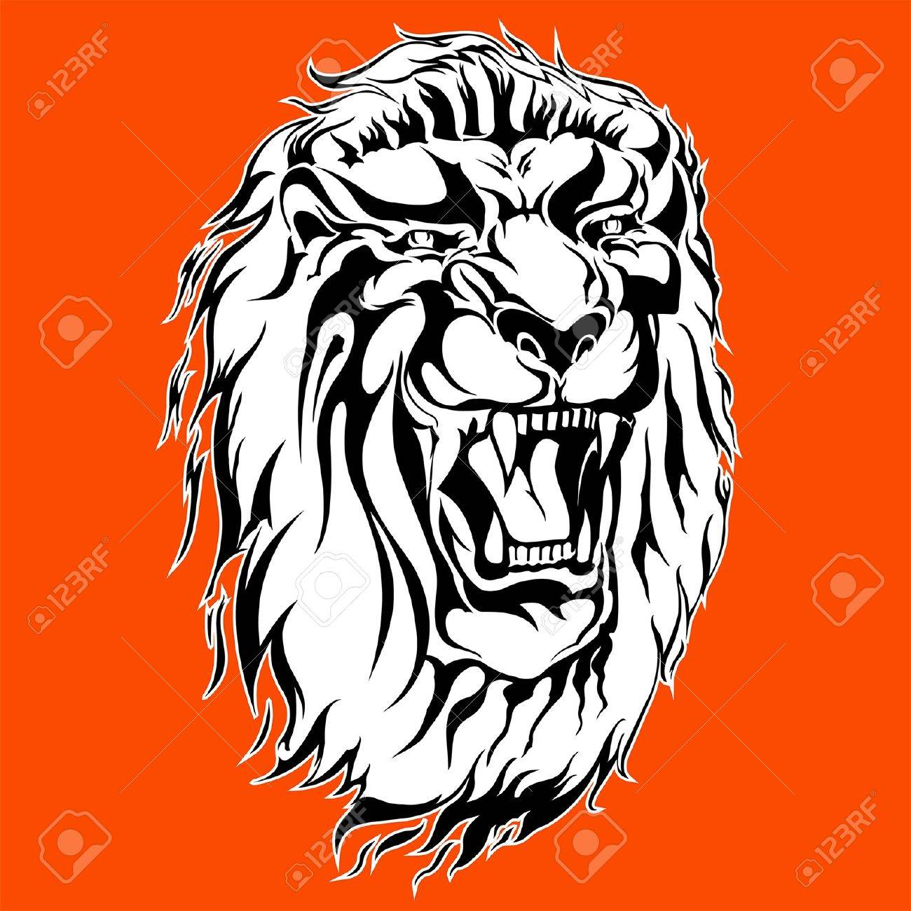 1300x1300 Roaring Lion Tattoo Royalty Free Cliparts, Vectors, And Stock