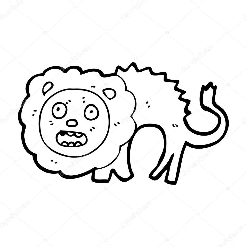 1024x1024 Roaring Lion Cartoon Stock Vector Lineartestpilot