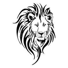 236x236 Lion Tattoo Lion Tribal Tattoo Decalcomanie