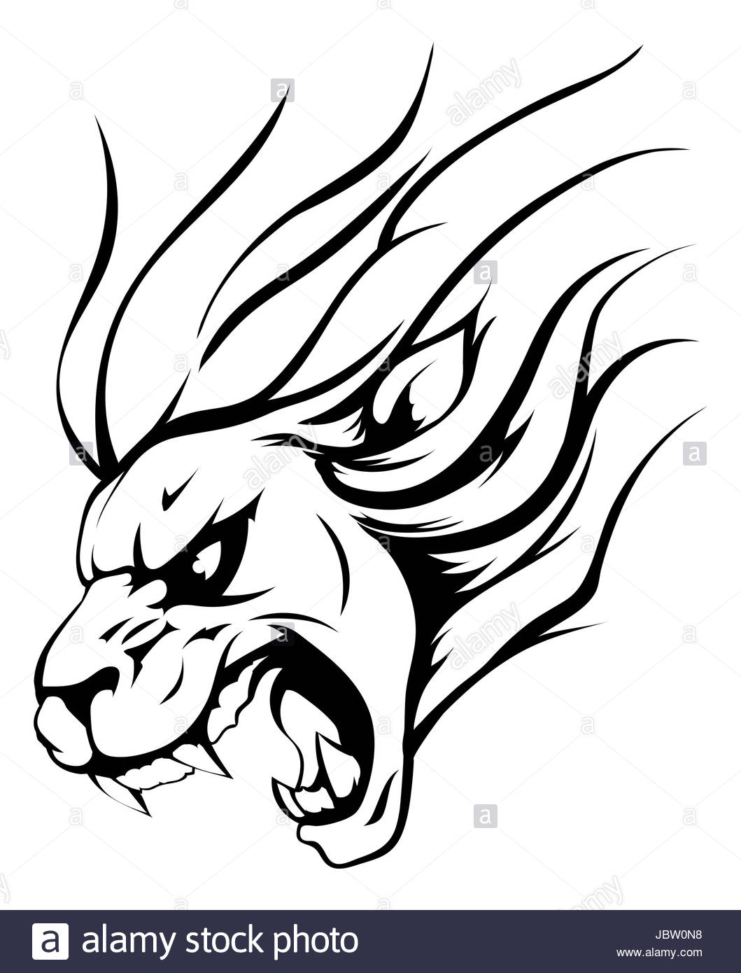 1059x1390 An Illustration Of A Strong Angry Lion Mascot Roaring Stock Photo