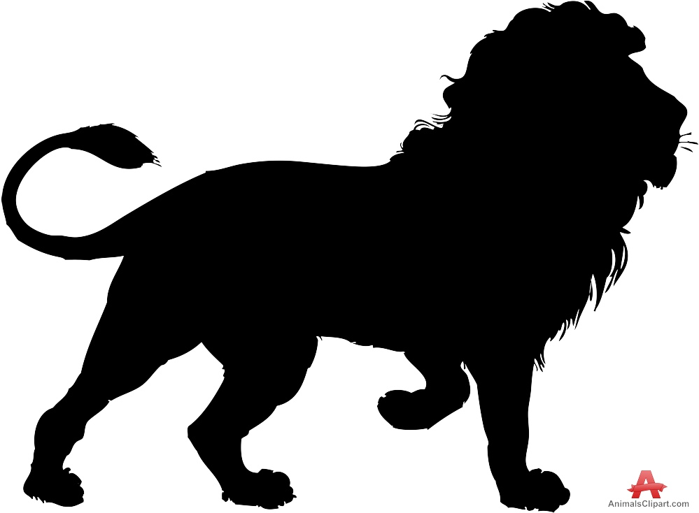 999x734 Lion Silhouette Ike Band Lion Clipart, Lion